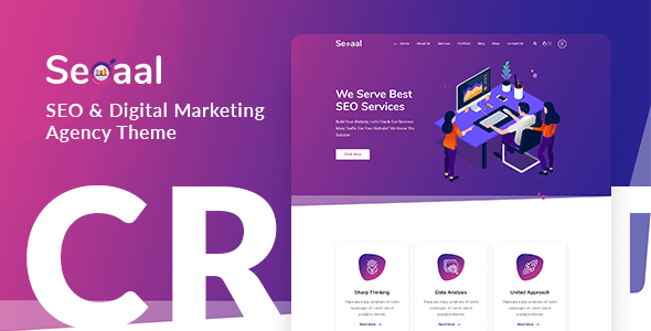 Seoaal – online page positioning & Digital Advertising WordPress Theme  – WP Theme Download