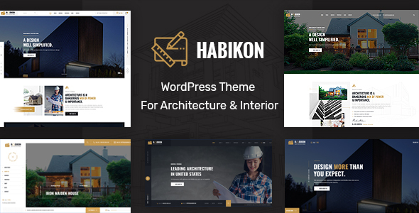 Habikon – Structure and Interior Construct WordPress Theme  – WP Theme Download