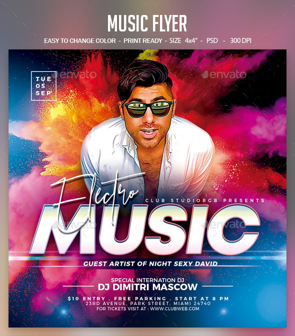 Flyers PSD – Song Flyer  – Download
