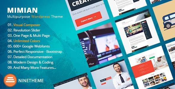 Mimian – Easy Commercial WordPress Theme  – WP Theme Download