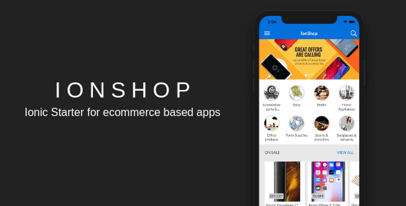 IonShop – Ionic 3 Starter for Ecommerce Based Apps  – PHP Script Download