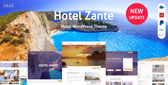 Zante Hotel Booking Theme – WP Theme Download