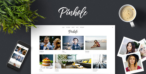 Pinhole – WordPress Gallery Theme for Photographers – WP Theme Download