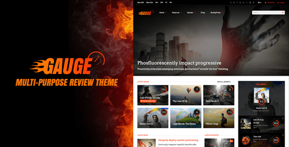 Gauge: Multi-Motive Overview Theme – WP Theme Download