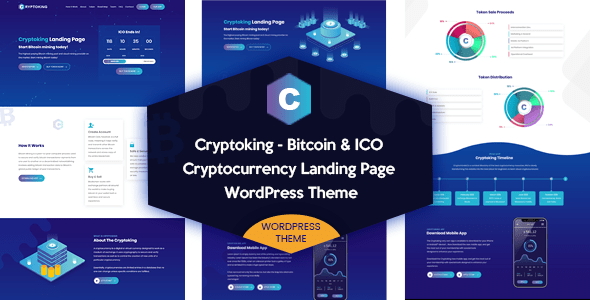 Cryptoking – Bitcoin & ICO Landing Internet page WordPress Theme – WP Theme Download