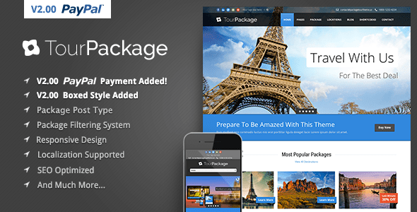 Tour Bundle – WordPress Commute/Tour Theme – WP Theme Download