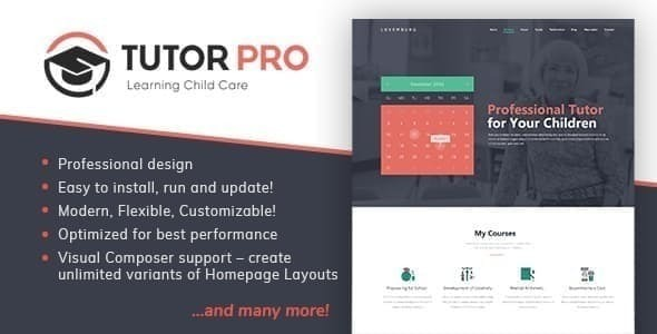 Tutor Pro |  Education WordPress – WP Theme Download