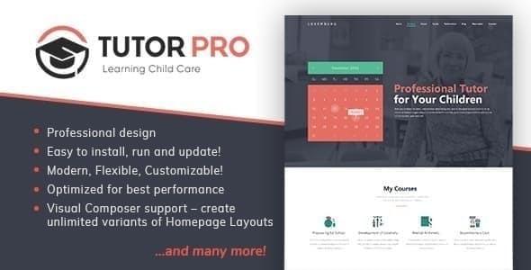 Tutor Pro    Education WordPress – WP Theme Download