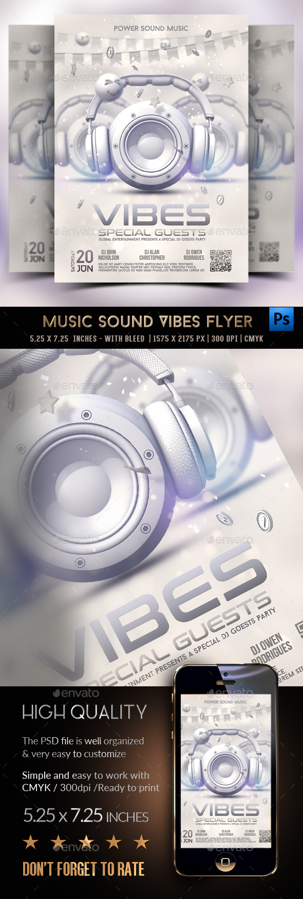 Flyers PSD – Song Sound Vibes Celebration Flyer – Download