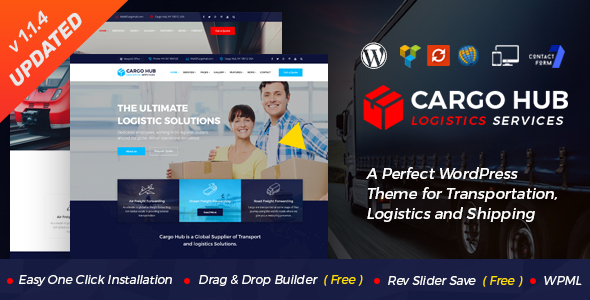 Cargo HUB – Transportation and Logistics WordPress Theme – WP Theme Download