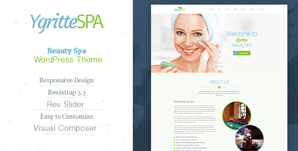 ygritte spa beauty salon wordpress theme download