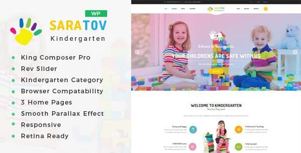 Saratov – Day Care & Kindergarten College WordPress Theme – WP Theme Download