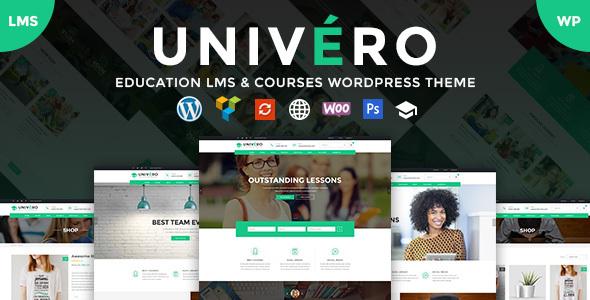 univero training lms applications wordpress theme download