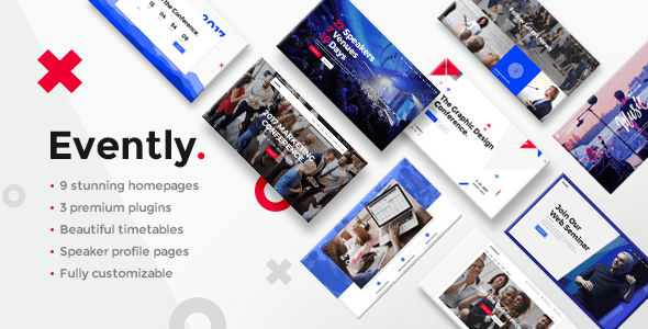 evently conference meetup theme download
