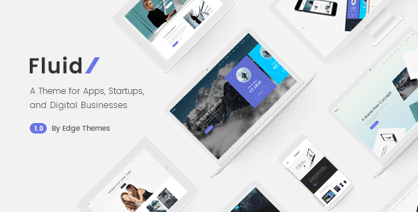 Fluid – Startup and App Landing Page Theme – WP Theme Download