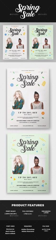 spring sale flyer download