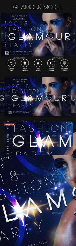 glamour occasion flyer template download