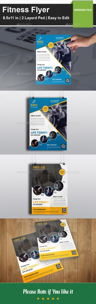 fitness flyer v03 download