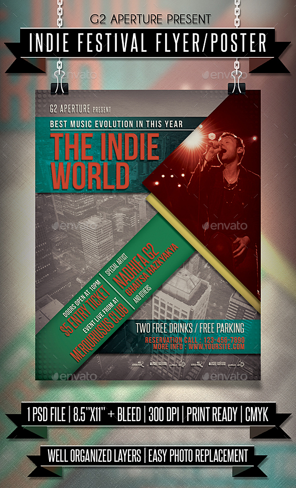 indie competition flyer poster download