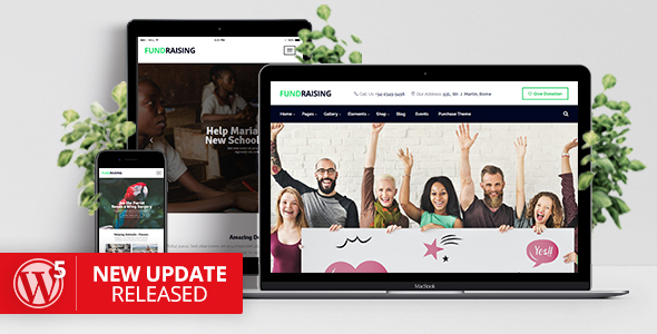 fundraising charity donations wordpress theme download