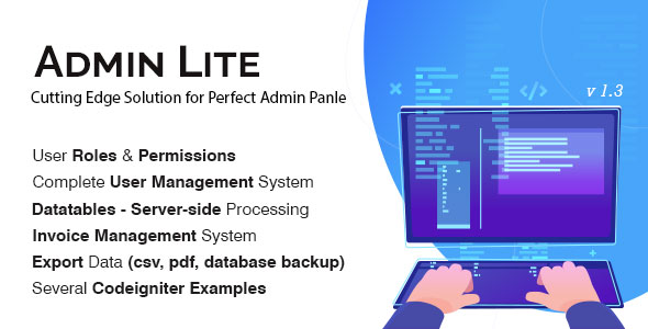 Admin Lite – PHP Admin Panel + CRUD – Download