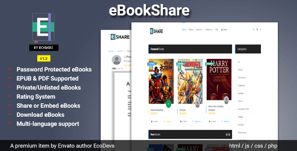 eBookShare – eBook internet internet hosting and sharing script – Download