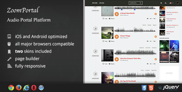 ZoomPortal – Audio Portal and Tune Sharing Platform – Download