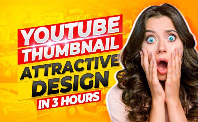design eye catchy youtube thumbnail