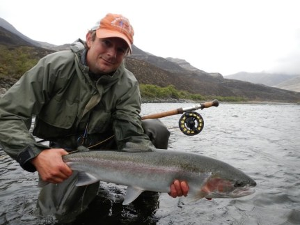 Shad Campbell with a Deschutes Steelhead