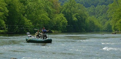 Float Trips Tuckasegee River, Fly Fishing the Smokies, NRS Clearwater Drift Boat