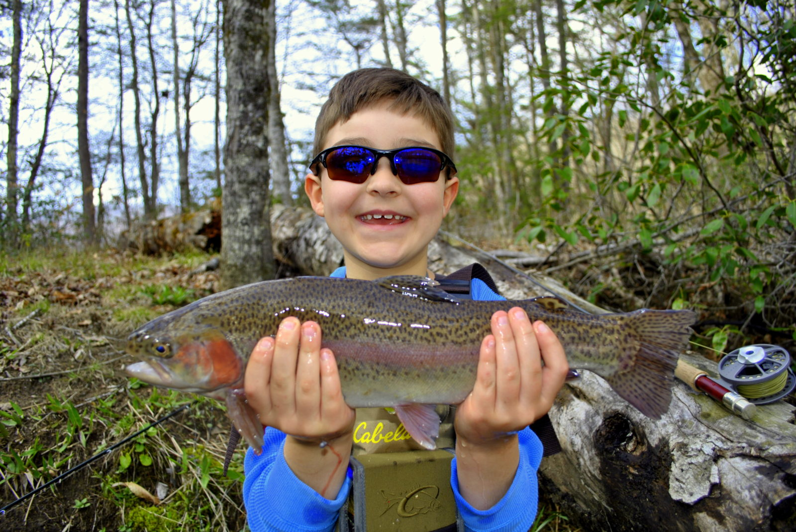 Kids guided fly fishing trips family fly fishing smoky mountains - Trout farming business family mountains ...