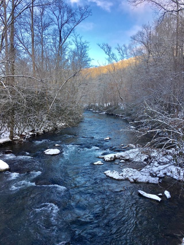 Fly Fishing the Smokies, SNow Day, Great Smoky Mountains National Park,