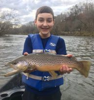 Fly Fishing the Smokies, Tuckasegee River Brown Trout Bryson City North Carolina