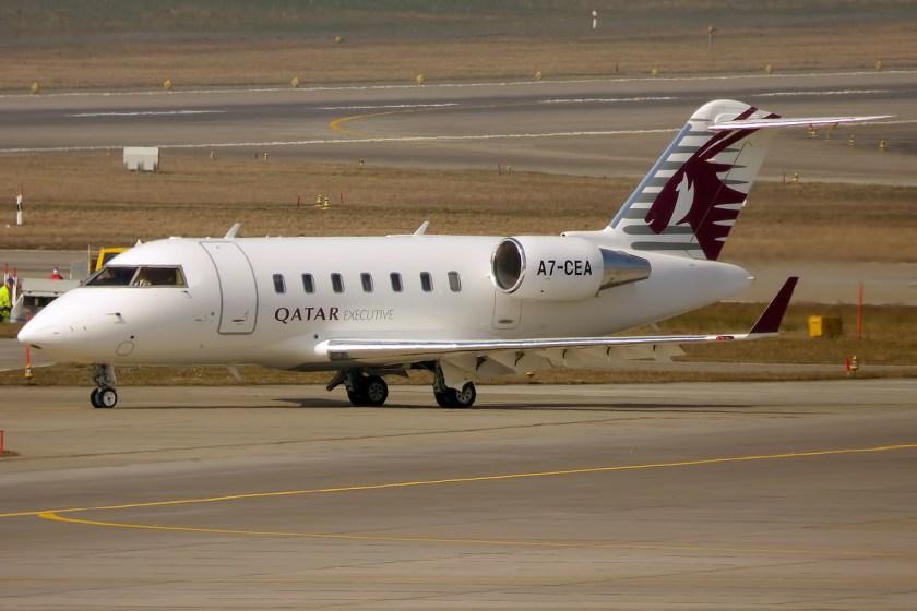 Qatar_Executive,_A7-CEA,_Canadair_CL605_Challenger_(16270820609)