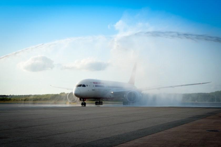 Water salute Air India