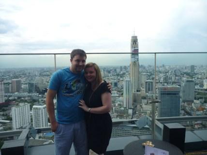 enjoying the skyline of bangkok