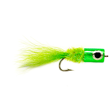 chartreusse banger fly for topwater striper action