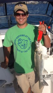 Brent's early spring striper schoolie