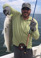 "26"" North Shore striper on the fly"