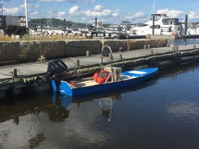 Flats skiff maiden voyage