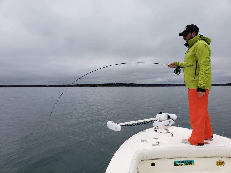 Tight On the Fly in Buzzards Bay Cape Cod