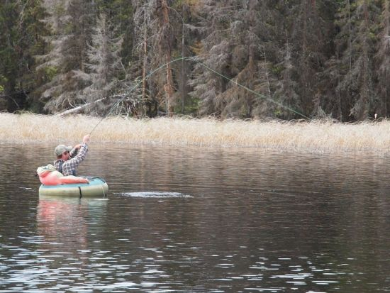 Best fly fishing boats for the trophy still water lakes of for Belly boat fishing
