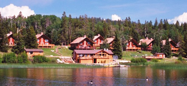 Roche Lake Resort BC Fishing Vacation - luxury chalets, fine dining & BIG Kamloops rainbow trout!