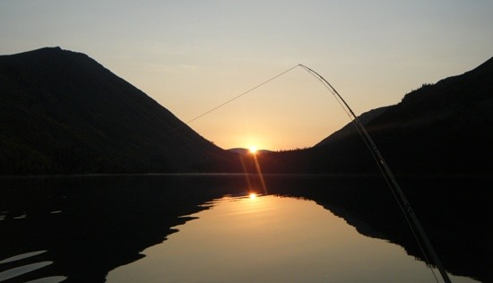 ... tight lines on a pristine BC Rocky Mountain trout lake!