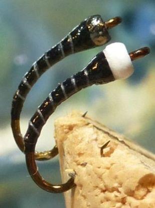 ... balck & white zebra chironomid fly patterns!