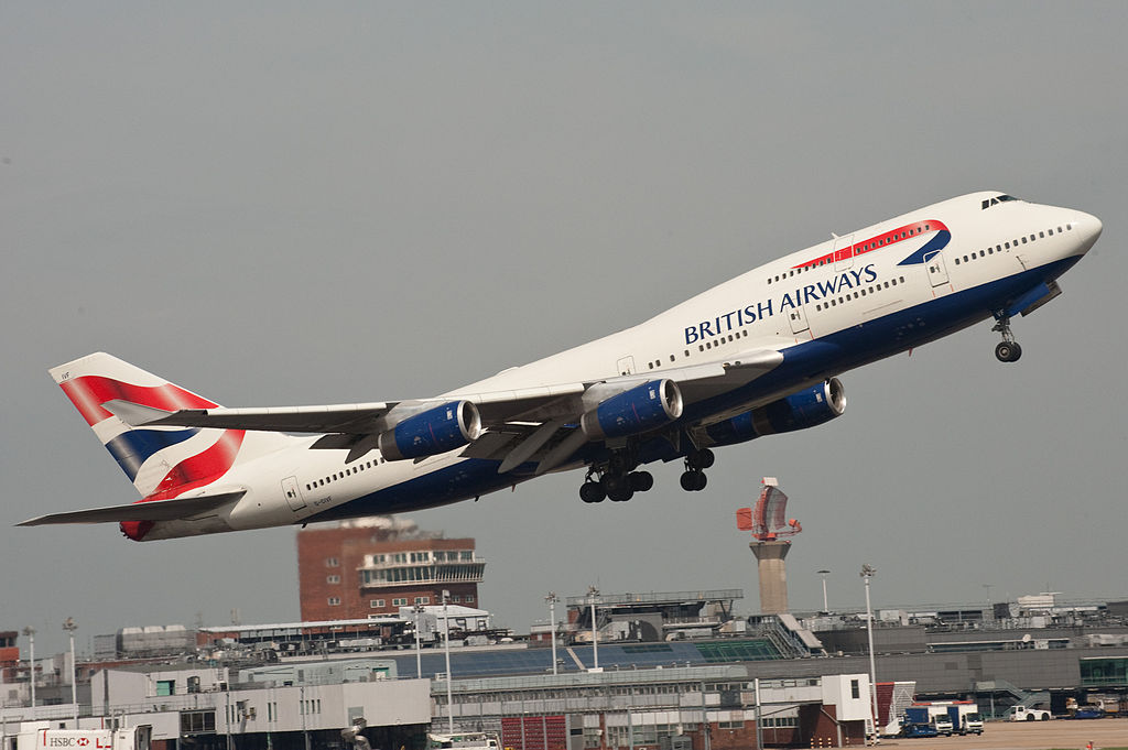 British Airways B747-400 G-CIVF
