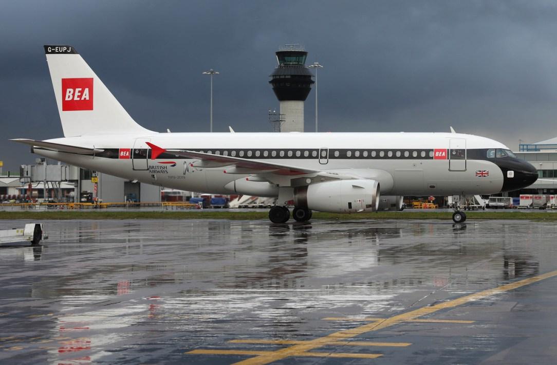 British Airways A319 BEA livery