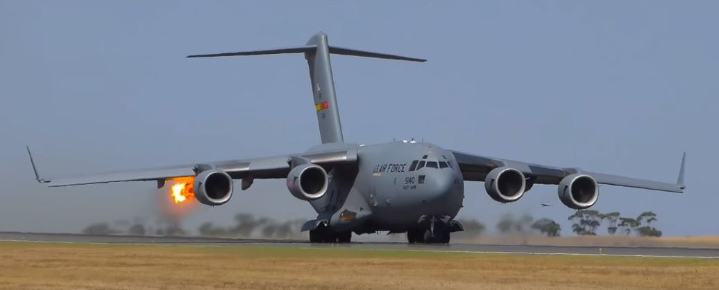 C-17 Bird Strike at Avalon Airshow 2019