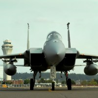 F-15 FROM OREGON ANG FIRED ITS MISSILES INTO THE PACIFIC, DUE TO ISSUE WITH LANDING GEAR