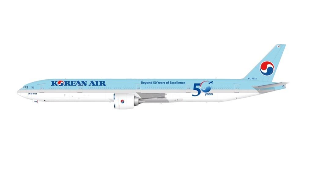 Korean Air B777 50th livery